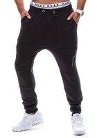 Spodnie baggy męskie czarne Denley k11