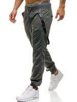 Spodnie dresowe baggy męskie antracytowe Denley 7221