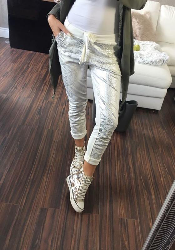 Spodnie dresowe damskie ecru Denley 0840