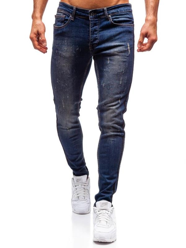 Spodnie jeansowe męskie granatowe Denley 1014