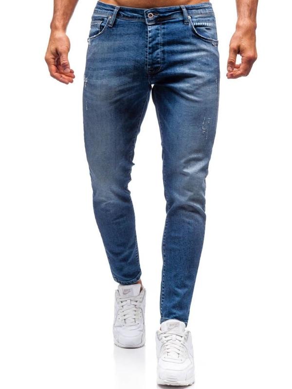 Spodnie jeansowe męskie granatowe Denley 7158