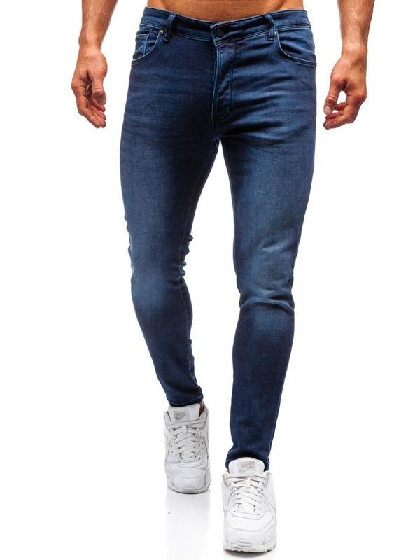 Spodnie jeansowe męskie granatowe Denley 7163