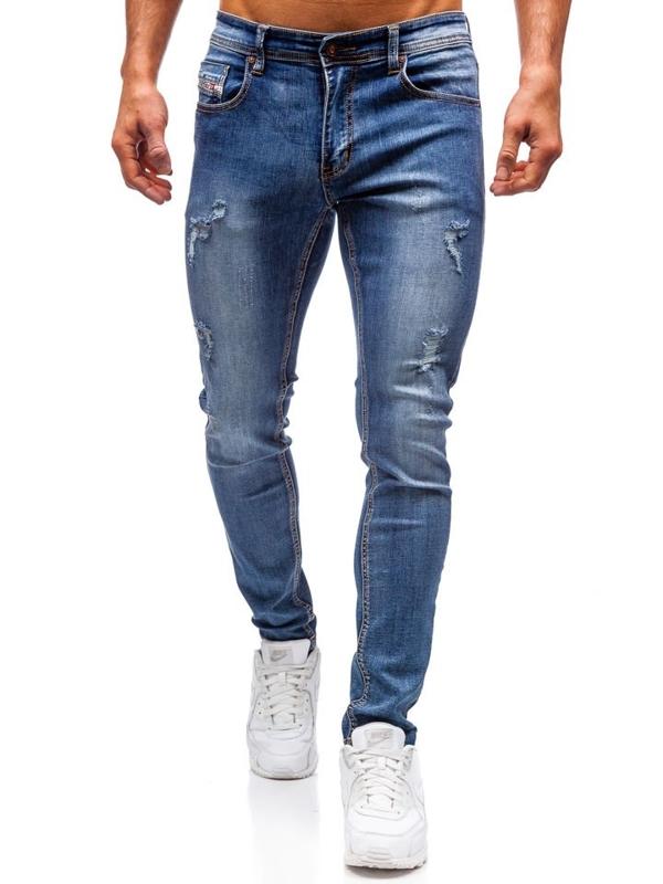 Spodnie jeansowe męskie granatowe Denley 71833