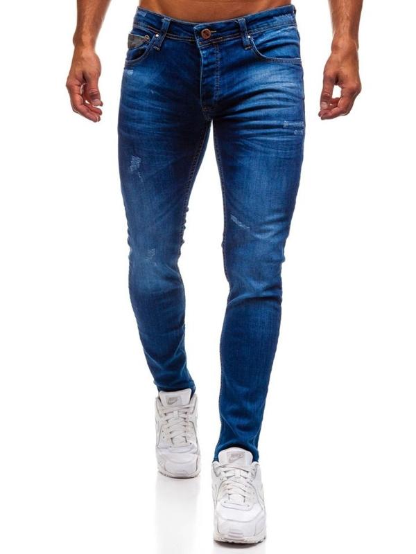 Spodnie jeansowe męskie niebieskie Denley 1308