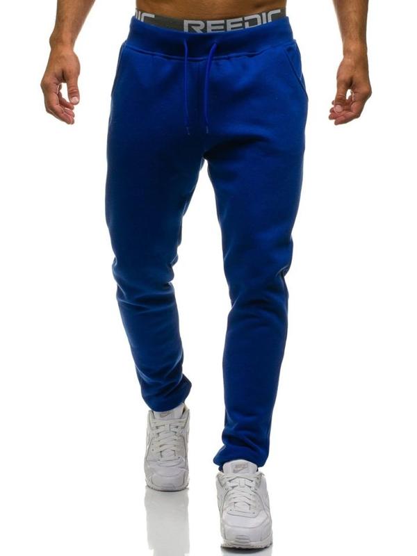 Spodnie męskie dresowe kobaltowe Denley KK01