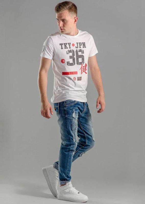 Stylizacja nr 58 - T-shirt, spodnie jeansowe