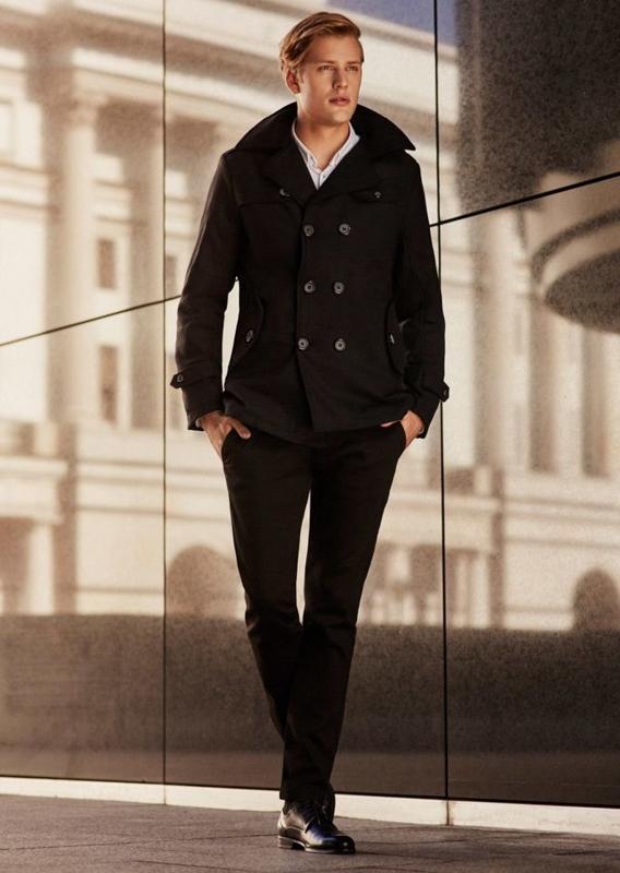 Stylizacja nr 67 - płaszcz, koszula, spodnie chinosy