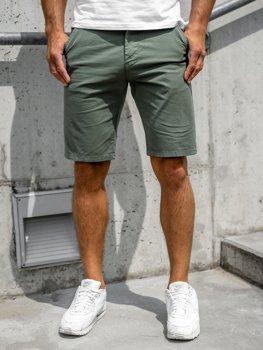 Zielone szorty krótkie spodenki męskie Denley 6142