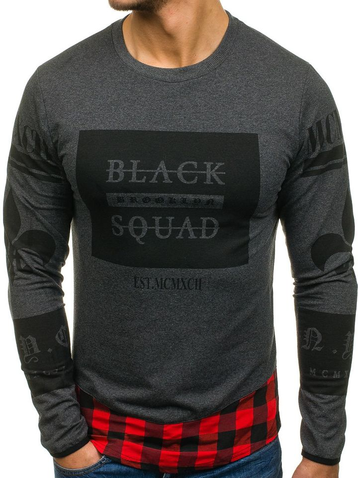 bluza męska z nadrukiem squad