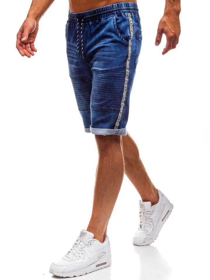 6ef2ff388fad Krótkie spodenki jeansowe męskie granatowe Denley HY190