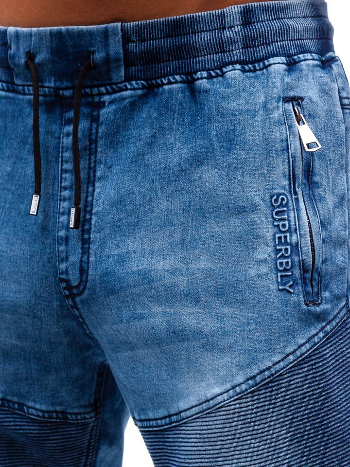 2fd2deb648866 Krótkie spodenki jeansowe męskie granatowe Denley HY345