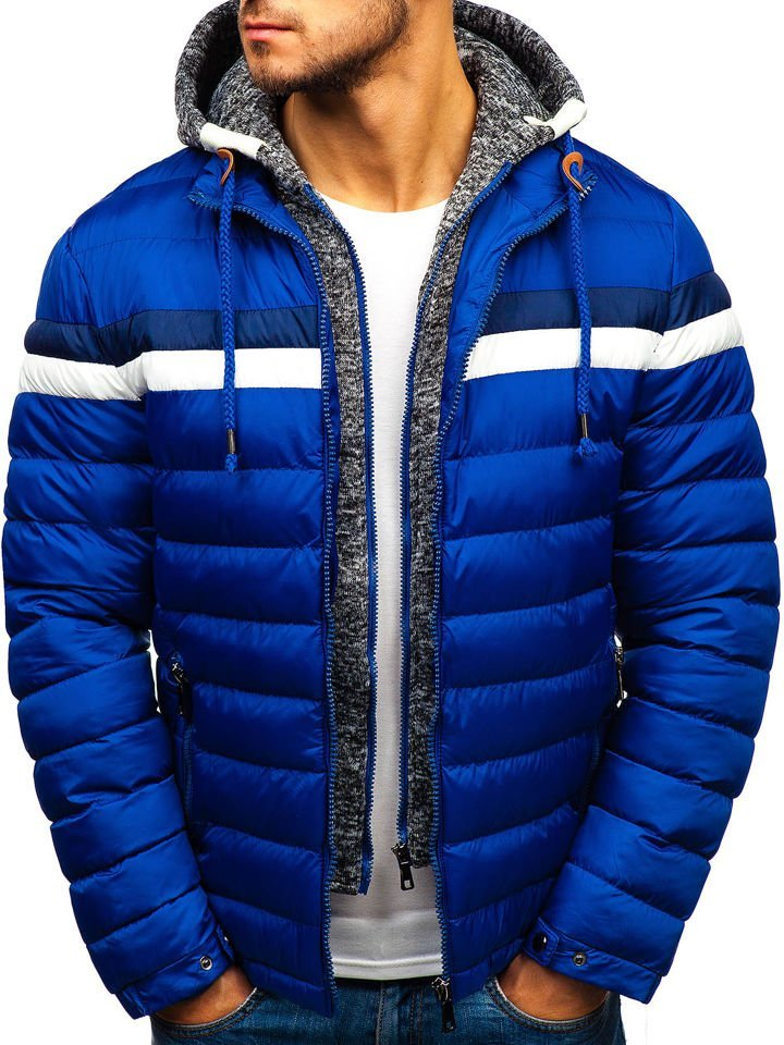 b429c2691d0a5 Kurtka męska zimowa niebieska Denley A181