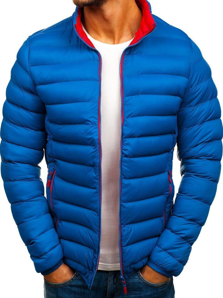 2b65b589acf0b Kurtka męska zimowa sportowa niebieska Denley SM11