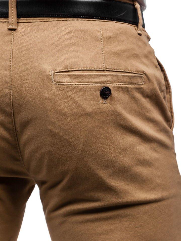 Spodnie chinosy męskie beżowe Denley 1120
