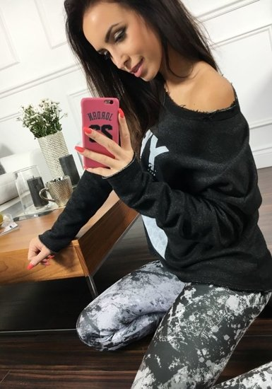 Bluza damska czarna Denley 6707