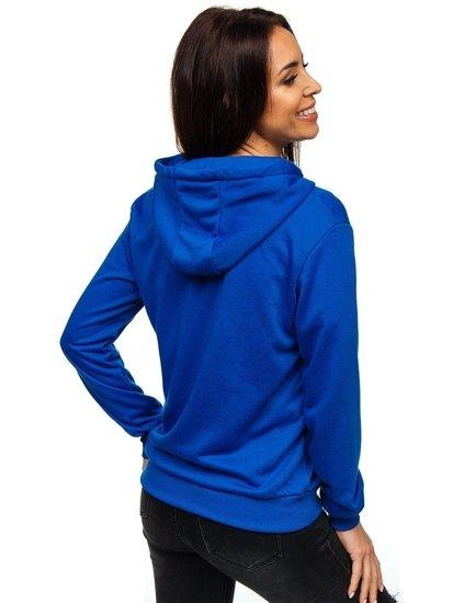 Bluza damska z kapturem niebieska Denley WB1005