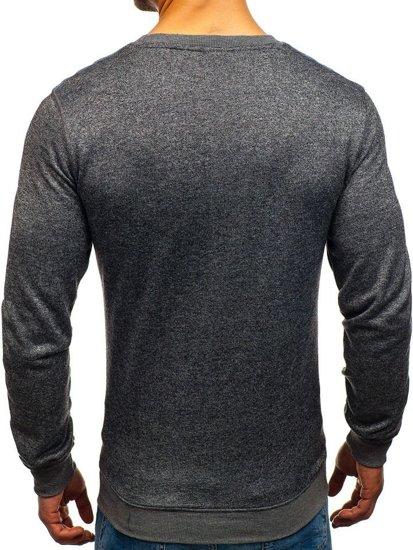 Bluza męska bez kaptura antracytowa Denley 9037