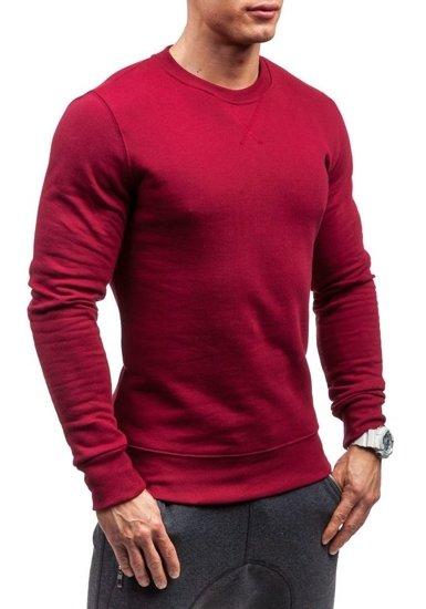 Bluza męska bez kaptura bordowa Bolf 44S
