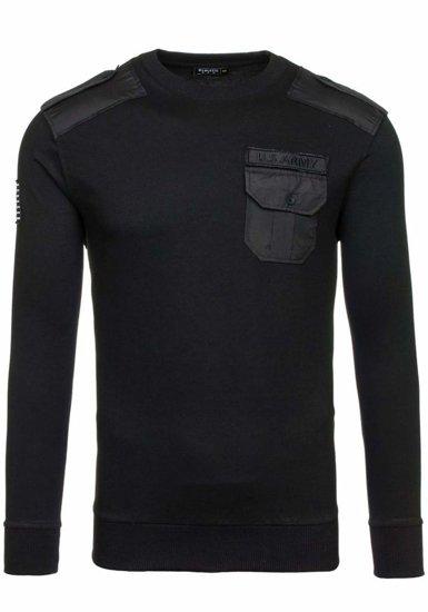 Bluza męska bez kaptura czarna Denley 0441