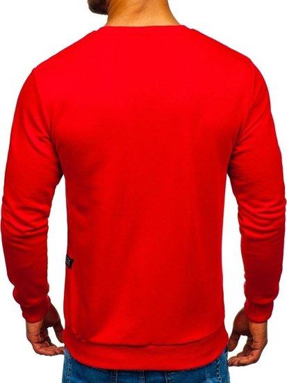 Bluza męska bez kaptura czerwona Bolf 171715