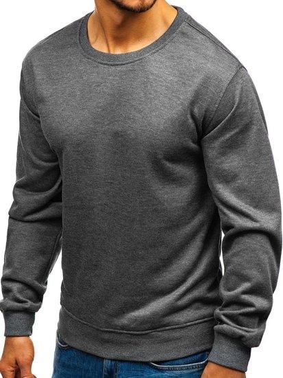 Bluza męska bez kaptura grafitowa Denley 22003