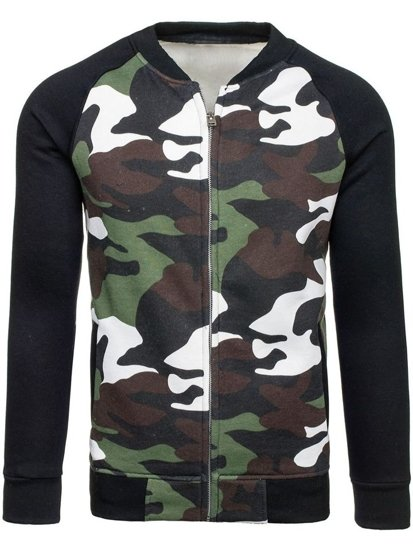 Bluza męska bez kaptura moro-zielona Denley 2538A