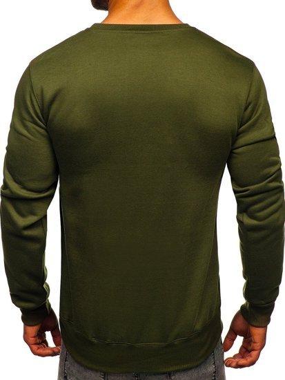 Bluza męska bez kaptura oliwkowa Denley 2001
