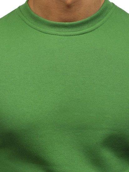 Bluza męska bez kaptura zielona Denley 01
