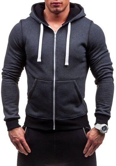 Bluza męska z kapturem antracytowa Bolf 66S