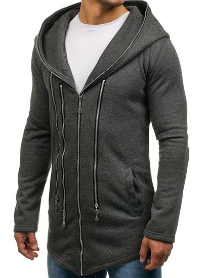 Bluza męska z kapturem antracytowa Denley Y36-2
