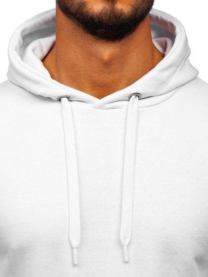 Bluza męska z kapturem biała Bolf 1004
