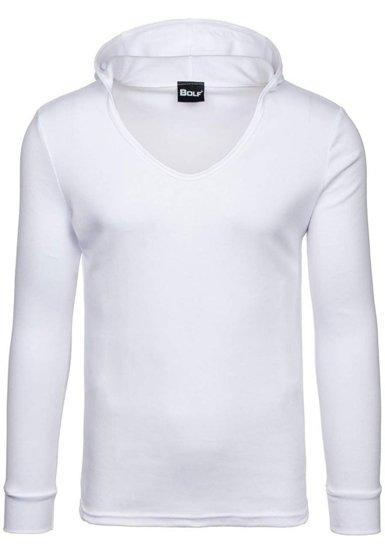 Bluza męska z kapturem biała Bolf 11S