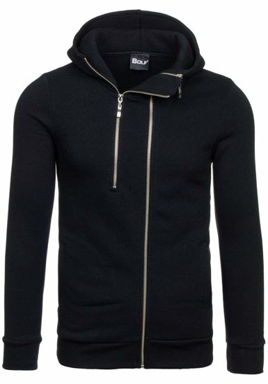 Bluza męska z kapturem czarna Bolf 13S-ZM