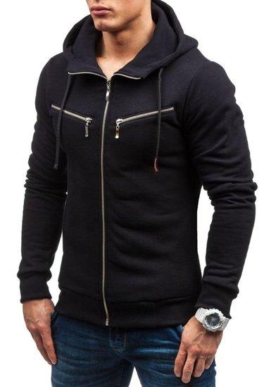 Bluza męska z kapturem czarna Bolf 34S-ZM