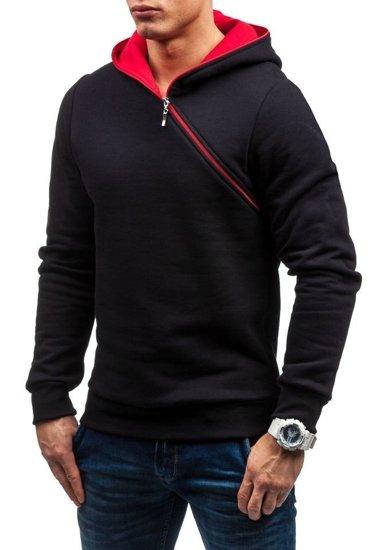 Bluza męska z kapturem czarna Bolf 46S