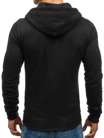 Bluza męska z kapturem czarna Denley 03