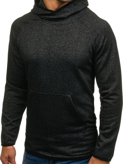 Bluza męska z kapturem czarna Denley 1685