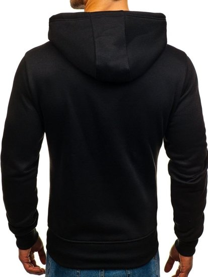 Bluza męska z kapturem czarna Denley 2078