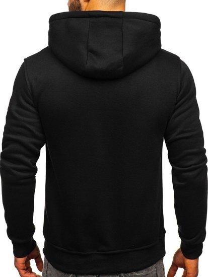 Bluza męska z kapturem czarno-seledynowa Denley 2011