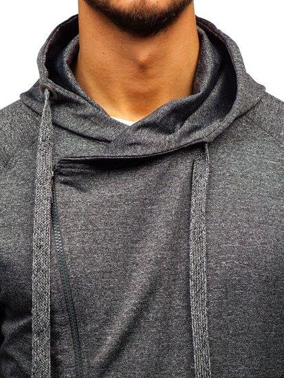 Bluza męska z kapturem grafitowa Denley 7092