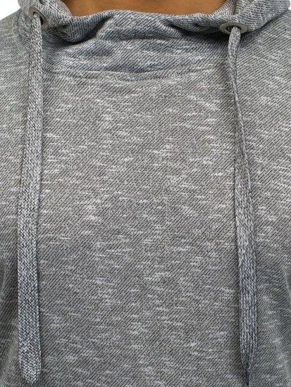 Bluza męska z kapturem jasnoszara Denley 7033
