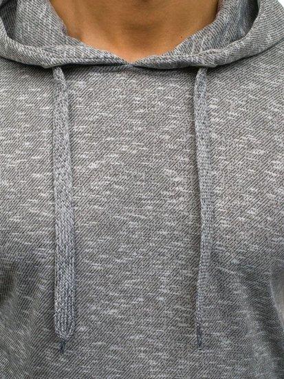 Bluza męska z kapturem jasnoszara Denley 7035