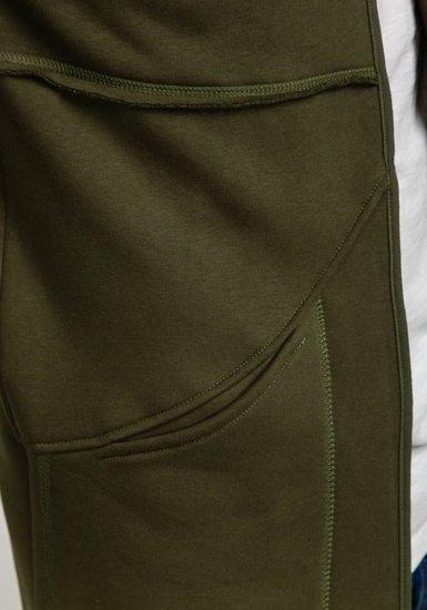 Bluza męska z kapturem khaki Bolf 9115