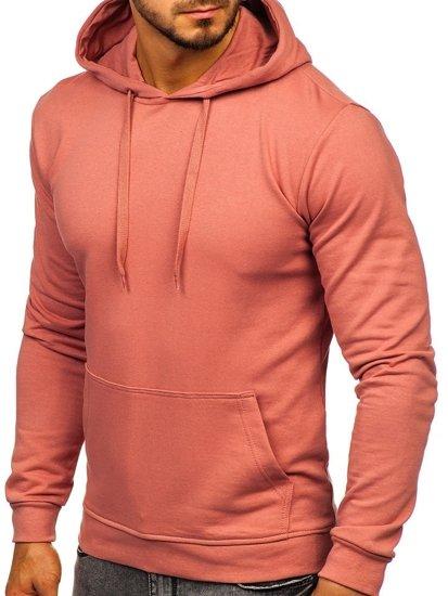 Bluza męska z kapturem różowa Bolf 5361