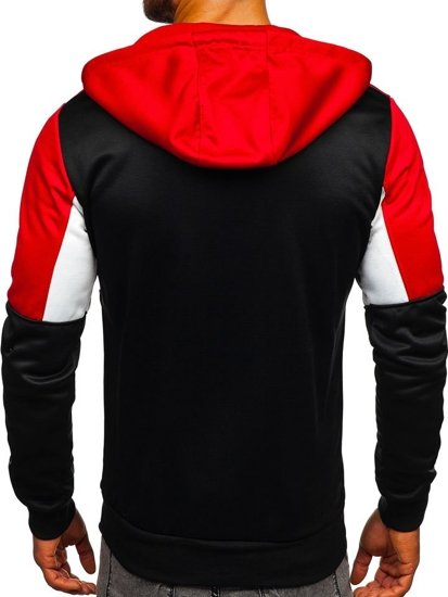 Bluza męska z kapturem rozpinana czarna Denley 88012