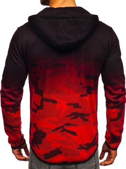 Bluza męska z kapturem rozpinana czerwona Denley DD84-2