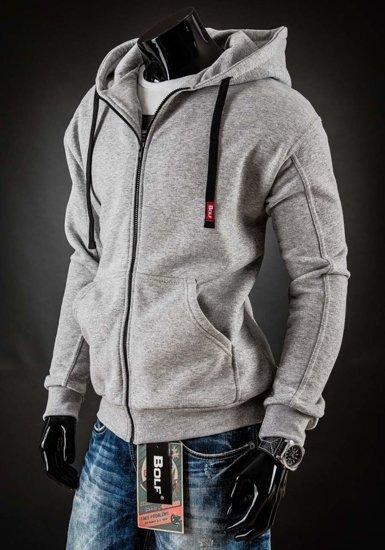 Bluza męska z kapturem szara Bolf 25