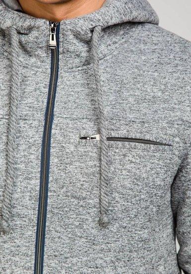 Bluza męska z kapturem szara Denley 1715