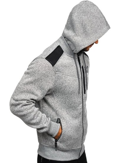 Bluza męska z kapturem szara Denley 2095