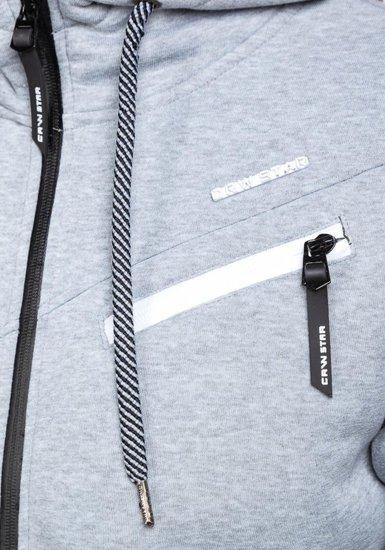 Bluza męska z kapturem szara Denley 3657